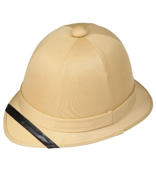 Adults Unisex Colonial Pith Helmet Jobs Work Forces Fancy Dress Hat